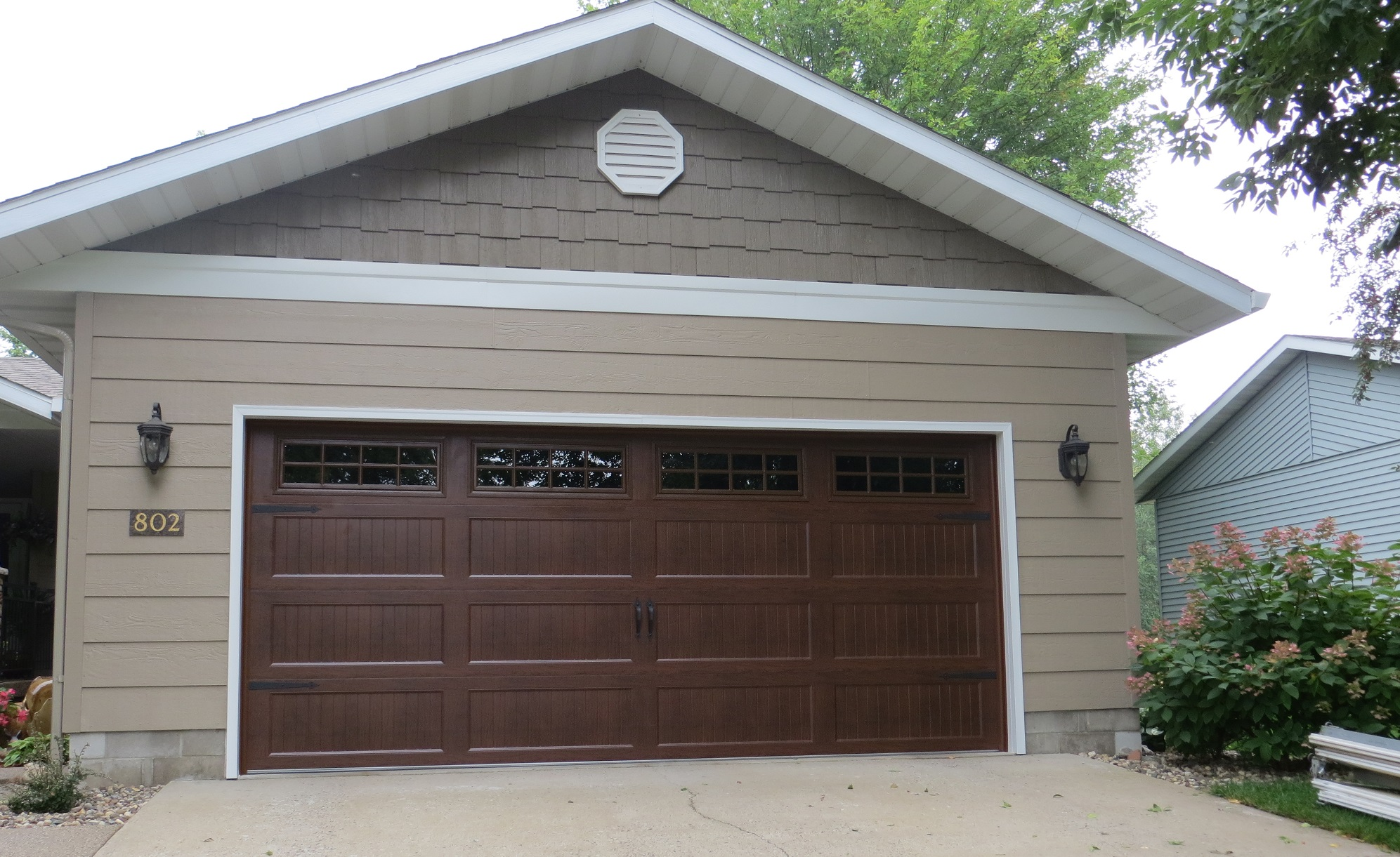 Praire Style Homes Recessed Carriage Panel House Garage Doors St Cloud Mn