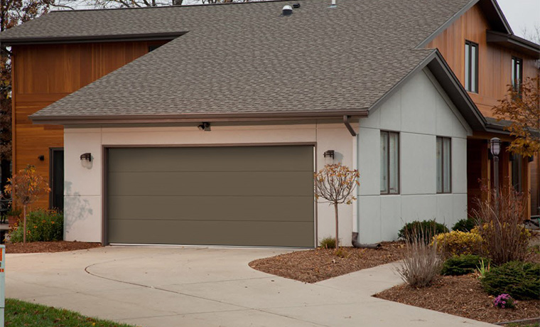 Flush Panel Garage Doors With Windows St Cloud Mn Adw